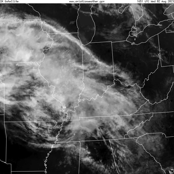GOES - infrared - Evansville Indiana