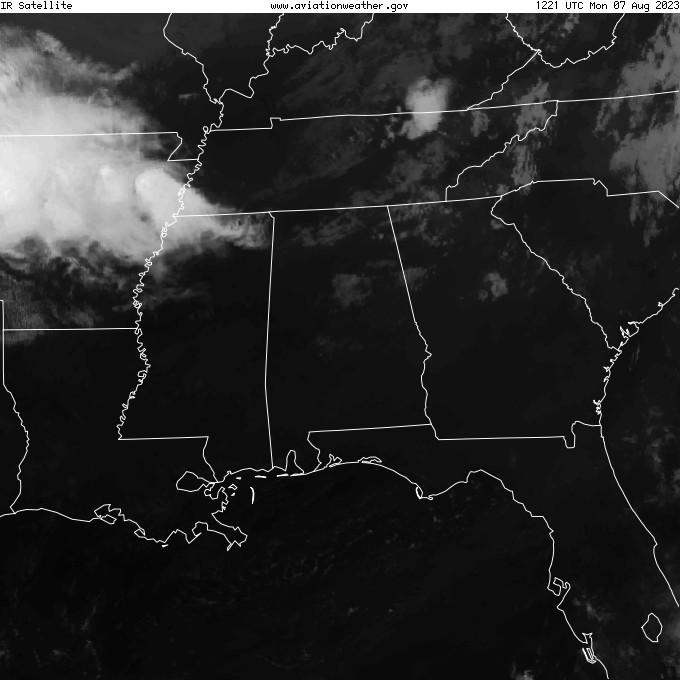 GOES - infraraudonųjų spindulių - Montgomery Alabama