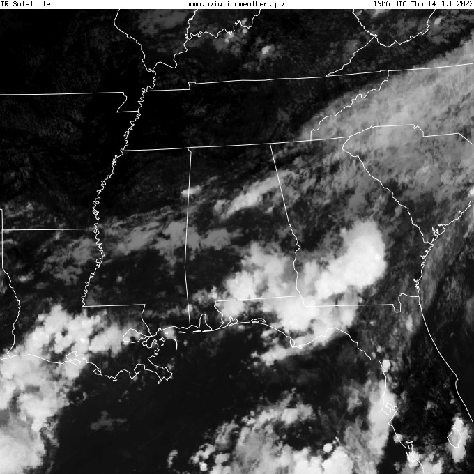 GOES - infraroja - Montgomery Alabama