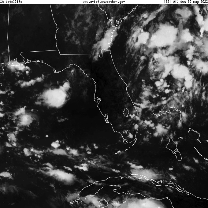 GOES - infrarouge - Tampa Floride