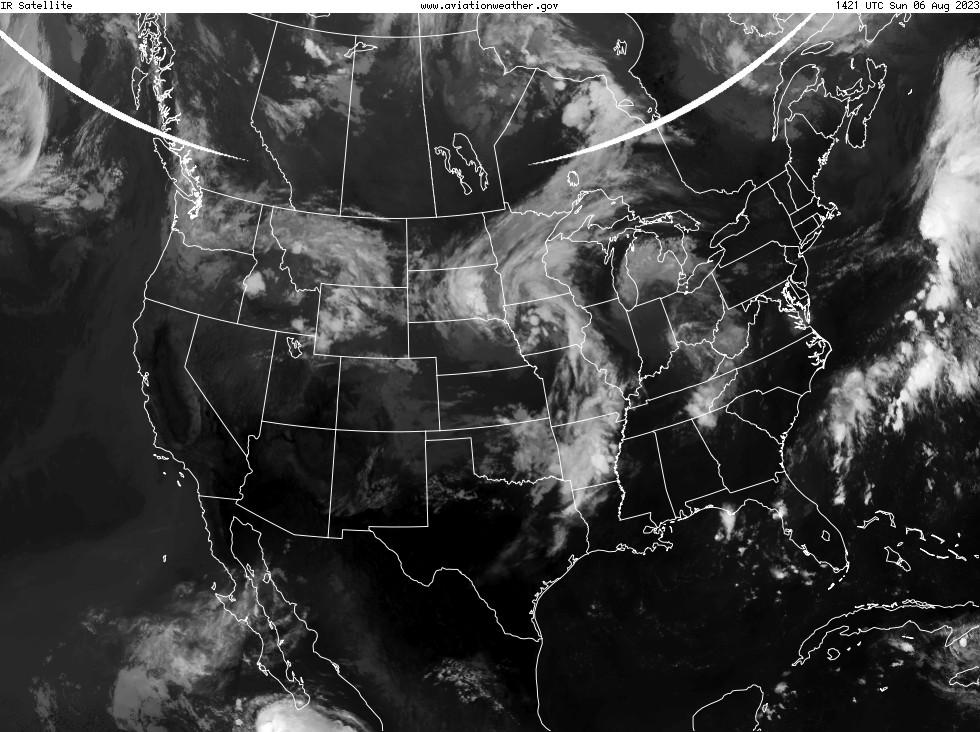 GOES - infraraudonųjų spindulių - USA