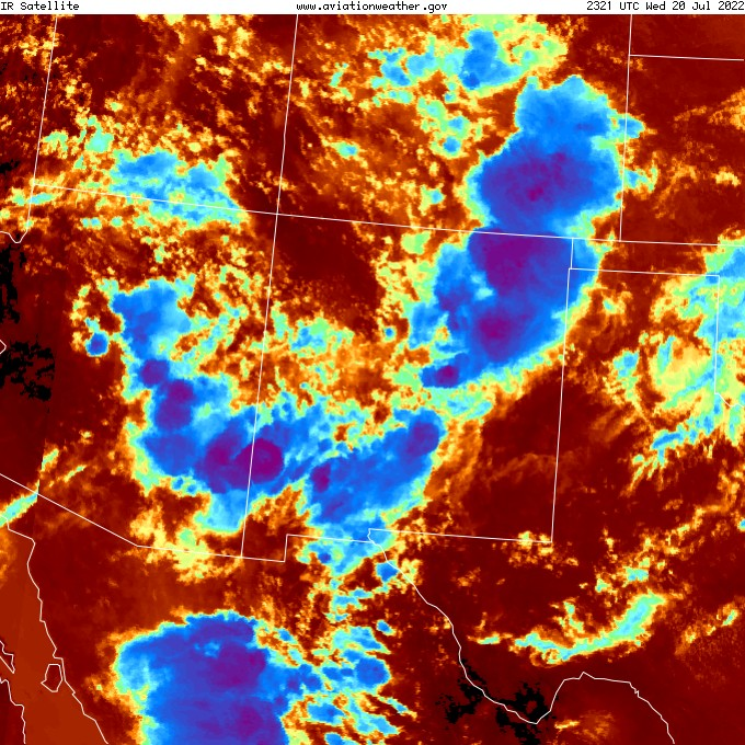 Southwest IR Satellite Image