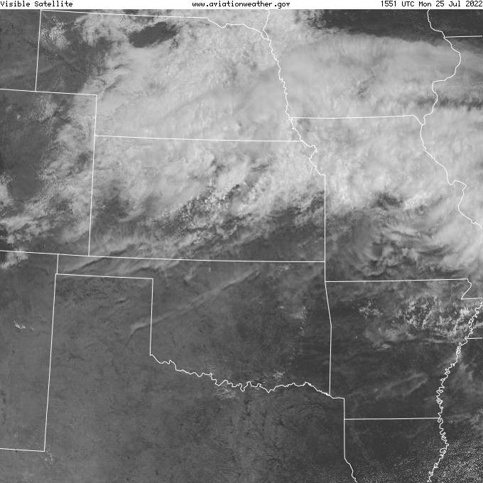 GOES - visible - Wichita Kansas