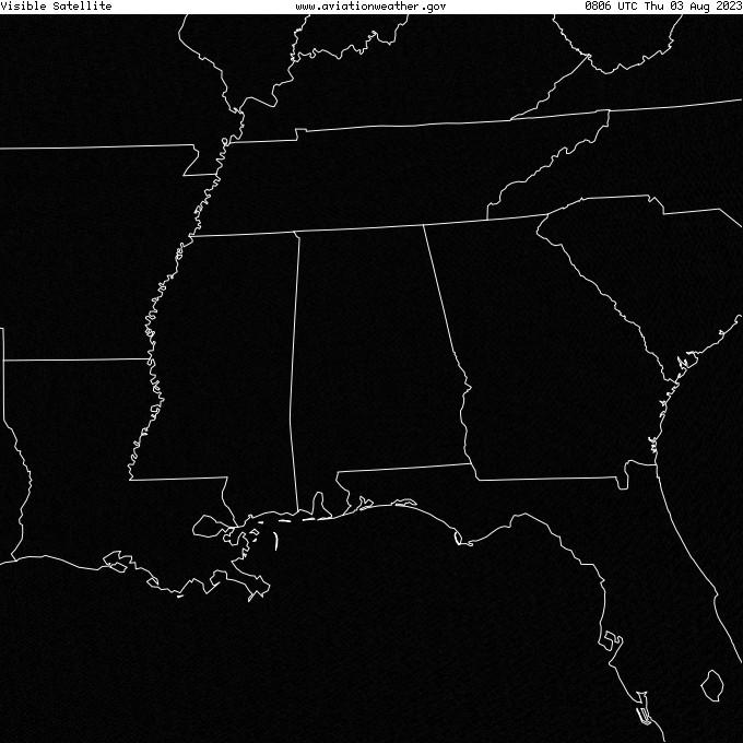 GOES - viditelné - Montgomery Alabama