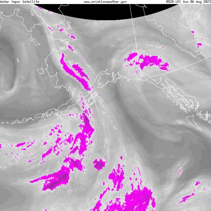 GOES - su buharı - Alaska