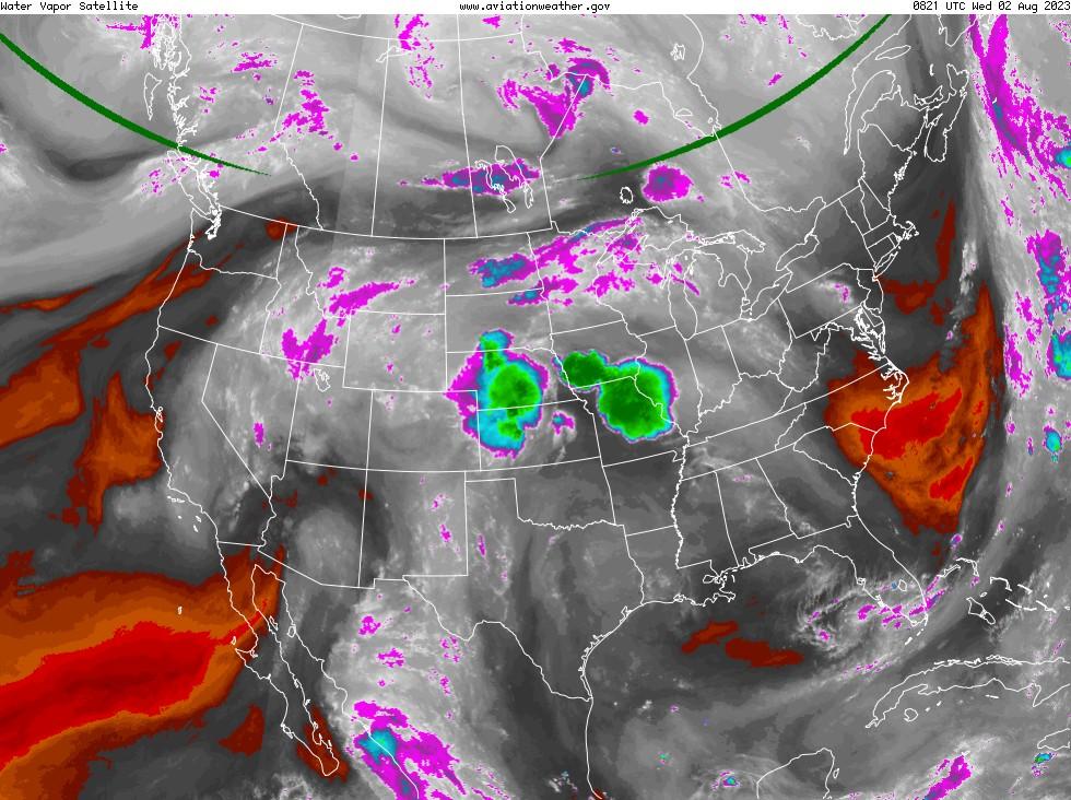 GOES - vapor d'aigua - USA