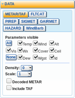 METAR and TAF configuration